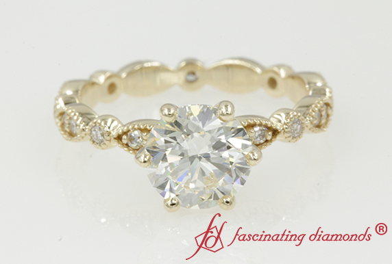Marquise Dot Eternity Engagement Ring