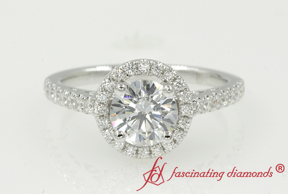 Moissanite Vintage Halo Ring