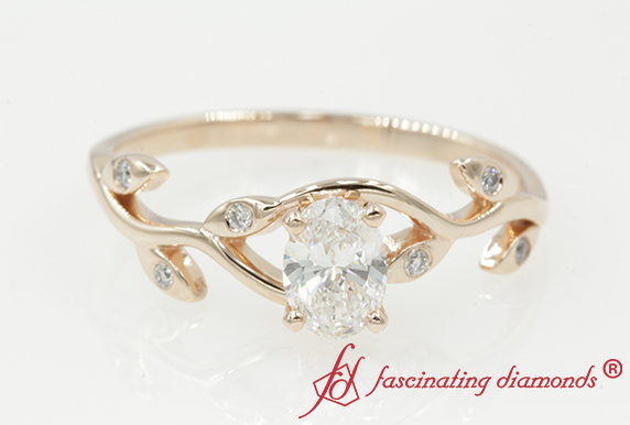Nature Inspired Oval Diamond Ring