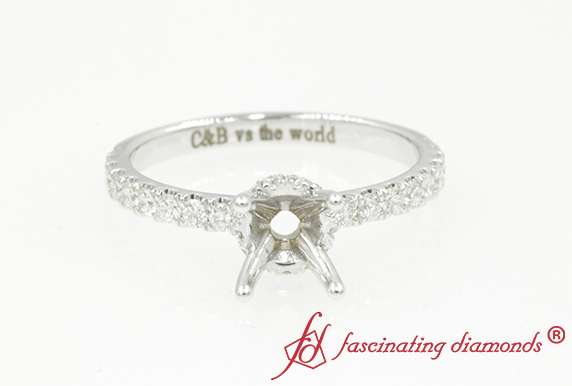 Hidden Halo Diamond Ring Setting