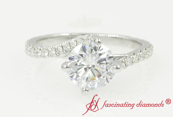 Round Moissanite Engagement Ring