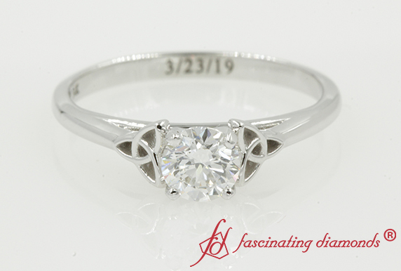 0.50 Carat Celtic Diamond Solitaire Ring