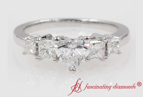 1.25 Carat White Gold Engagement Ring
