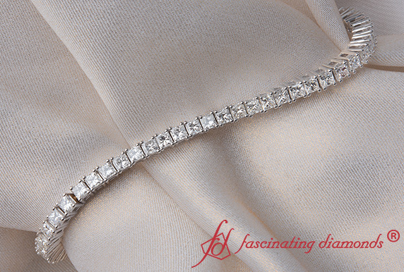 6 Carat Princess Cut Tennis Bracelet