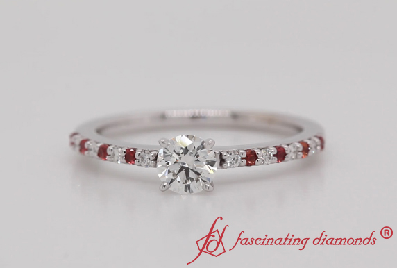 Round Delicate Engagement Ring