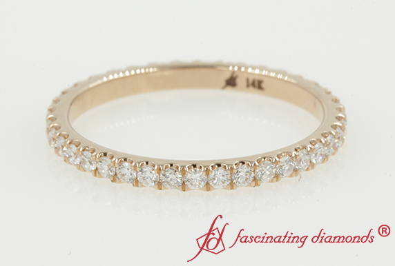 Half Carat Round Diamond Band