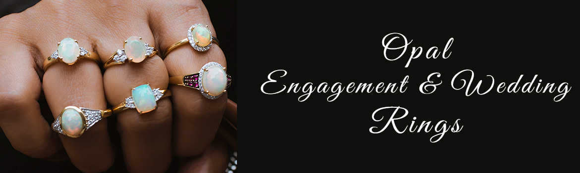 Opal Engagement And Wedding Rings