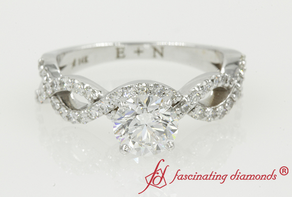 Round Cut Infinity Diamond Wedding Ring