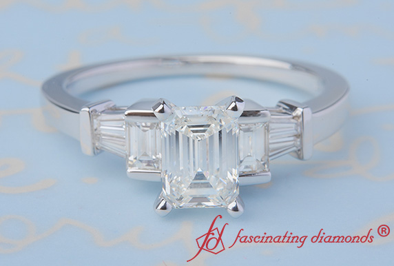 Emerald Cut And Baguette Ring