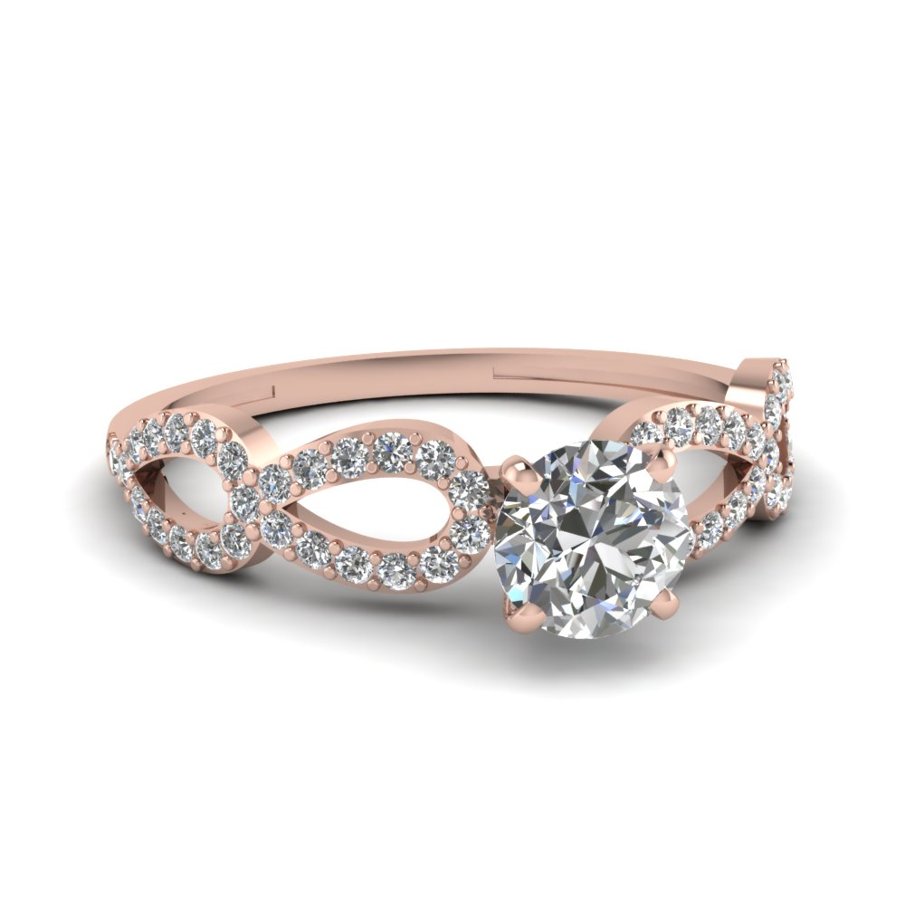 Rose Gold Thin Band Engagement Ring