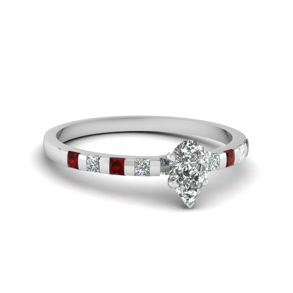 Radiant Cut Thin Diamond Ring