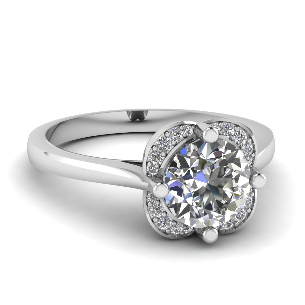 Delicate Flower Engagement Ring