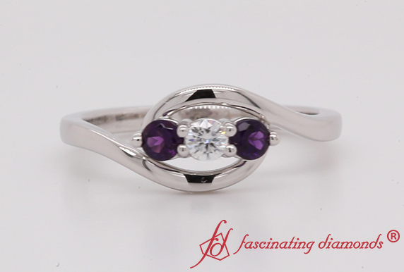Crossover 3 Stone Ring