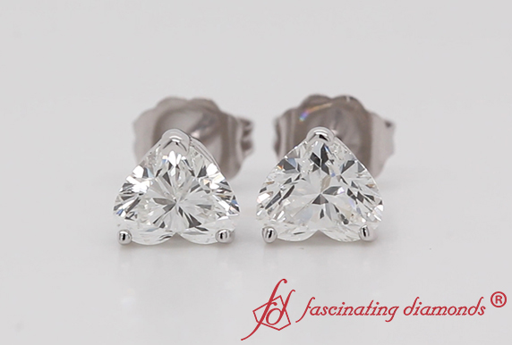 1.50 Carat Diamond Heart Stud Earring