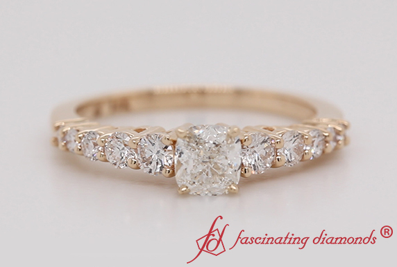 Cushion Cut Floating Diamond Ring
