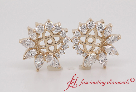 Floral Halo Diamond Ear Jacket