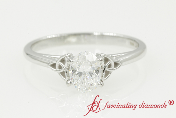 Irish Oval Shaped Solitaire Engagement Ring