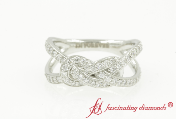 Love Knot Diamond Split Ring