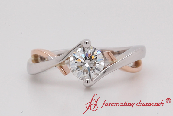 Twist Single Diamond Wedding Ring