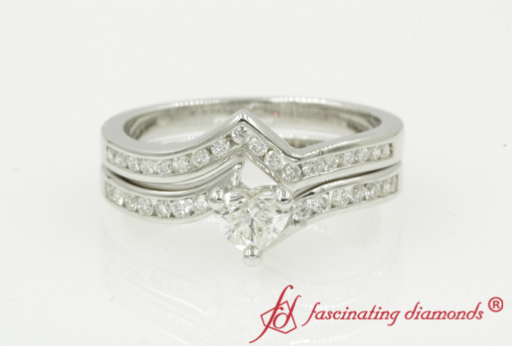 Twisted Channel Diamond Bridal Set