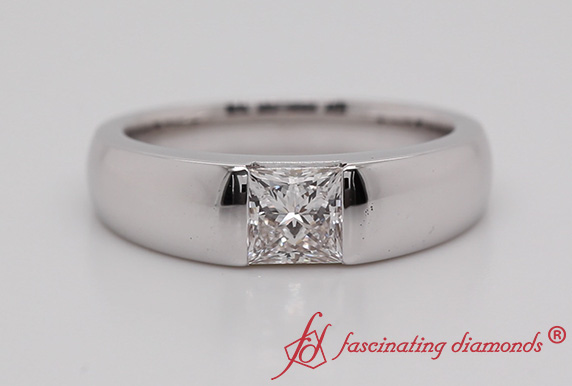 1 Ct. Lab Made Mens Solitaire Ring