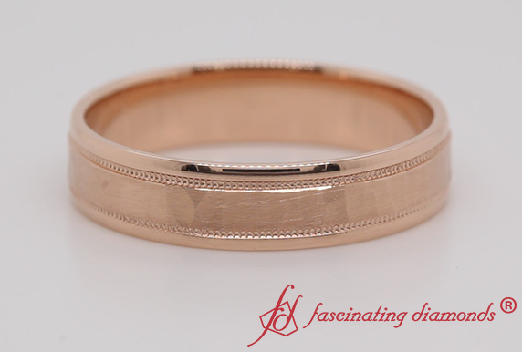 5MM Light Weight Hammered Mens Band
