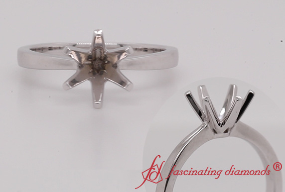 6 Prong Semi Mount Ring