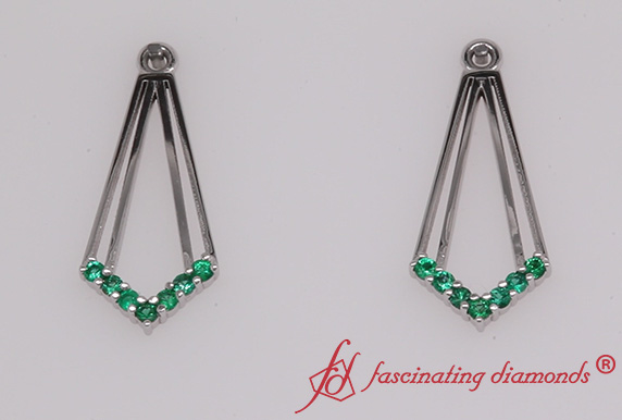 Dangle Emerald Earring Jackets