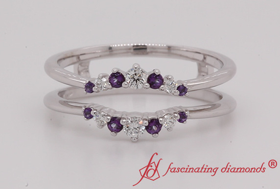 Graduated Ring Guards With Purple Topaz