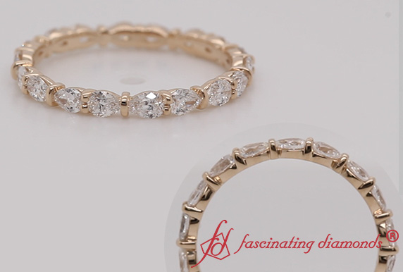 East West Pear Diamond Eternity Band