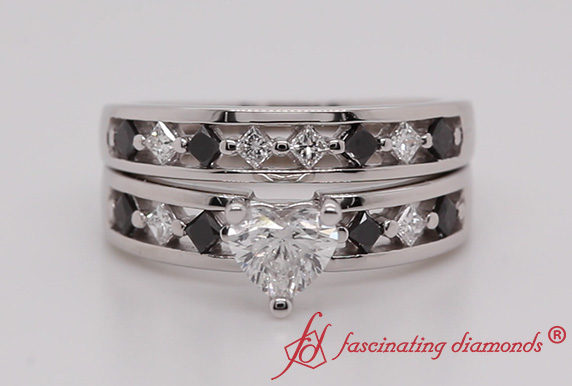 Heart Shaped Bridal Ring Set