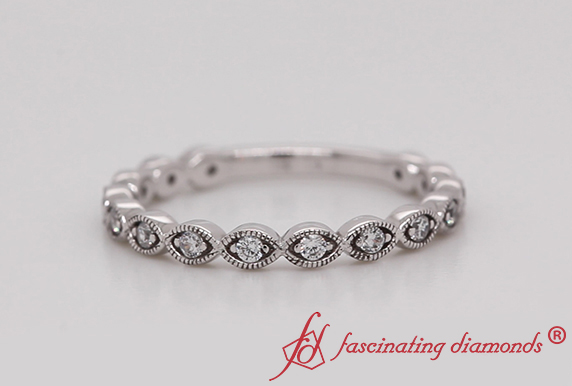 Infinity Vintage Wedding Band