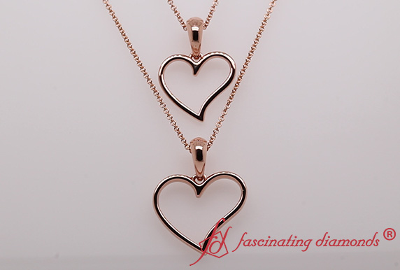 Open Heart Mom And Daughter Necklace