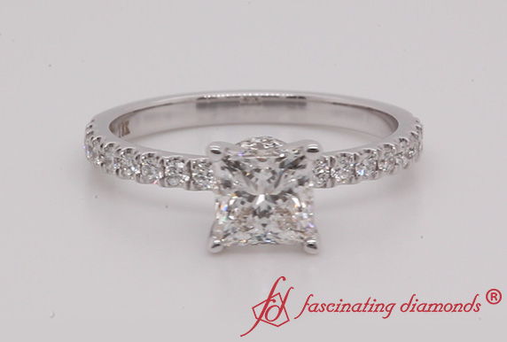 Petite Under Halo Diamond Ring