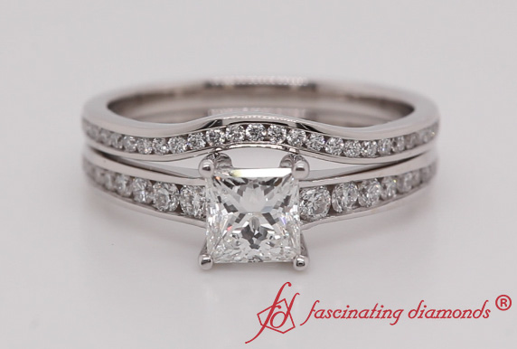 Channel Diamond Ring Set