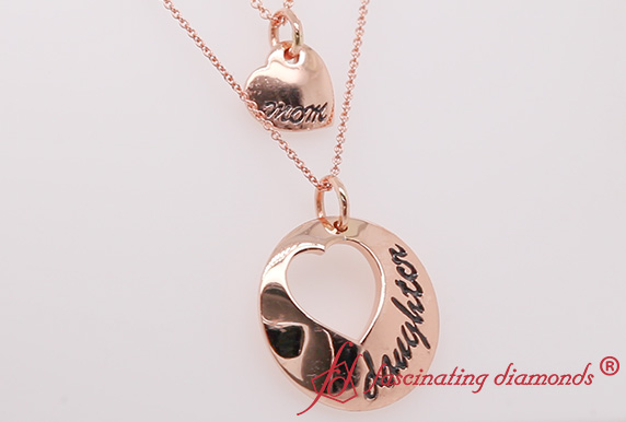 Rose Gold Engraved Necklace