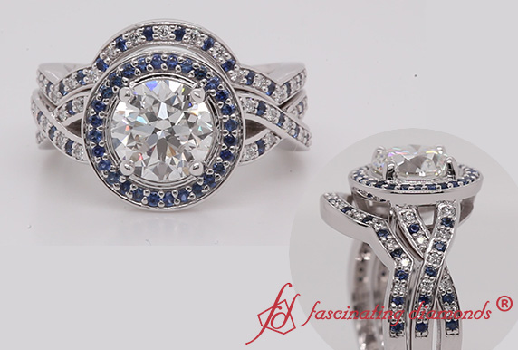 Intertwined Bridal Ring Set