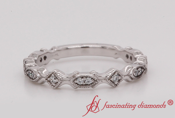 Vintage Stacking Diamond Band