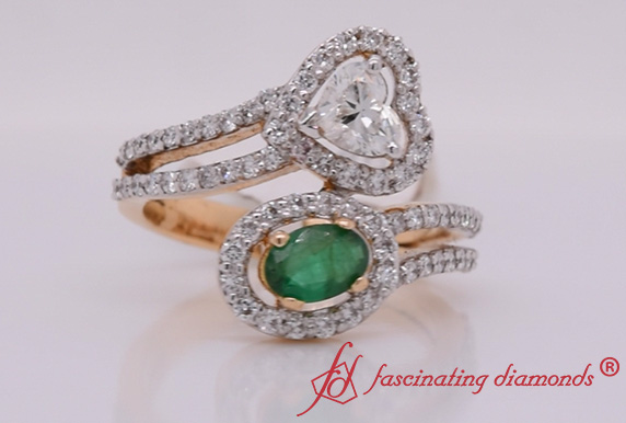 Two Stone Split Shank Engagement Ring