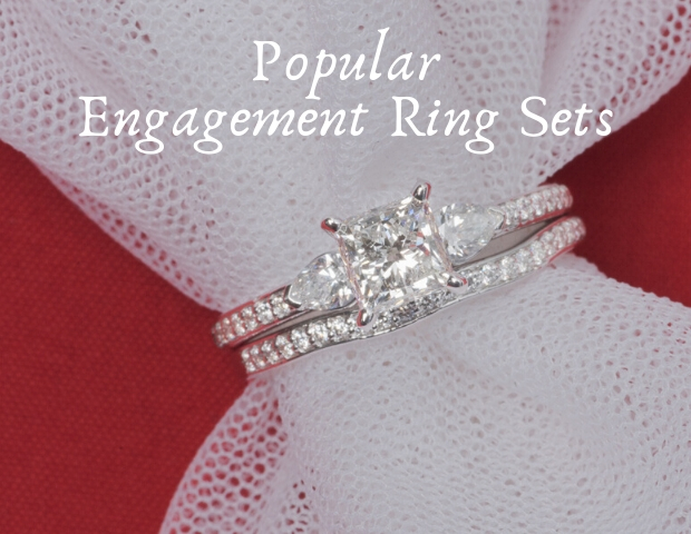 Popular Engagement Ring Sets.