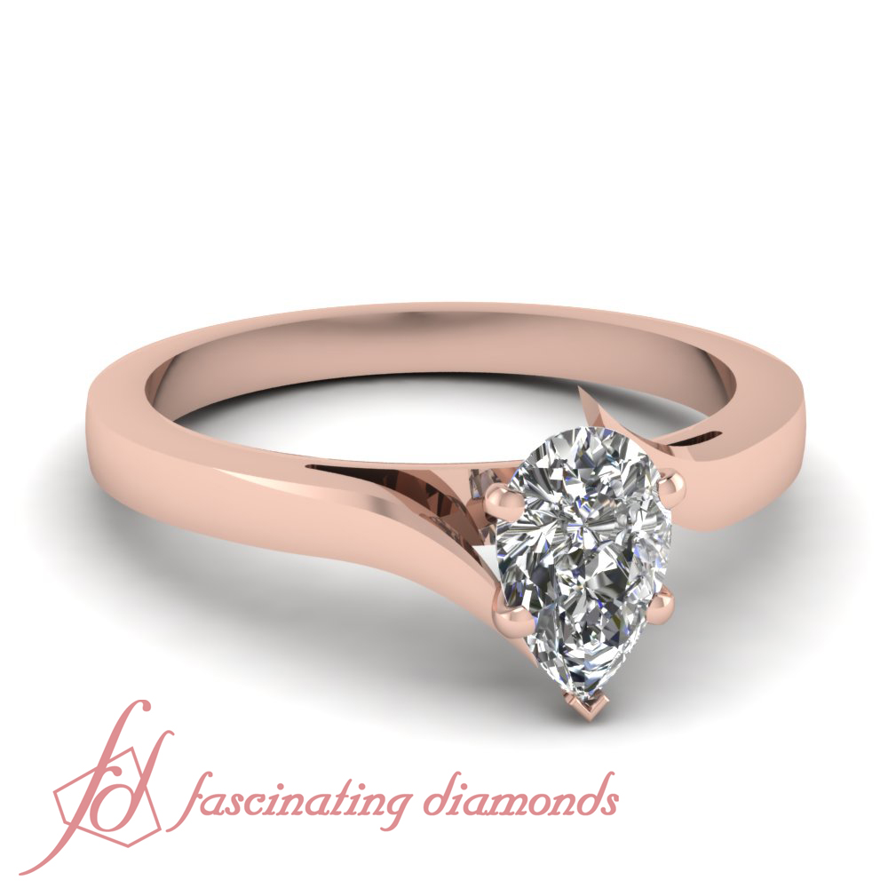 tapered edged solitaire engagement rings for women 1 2