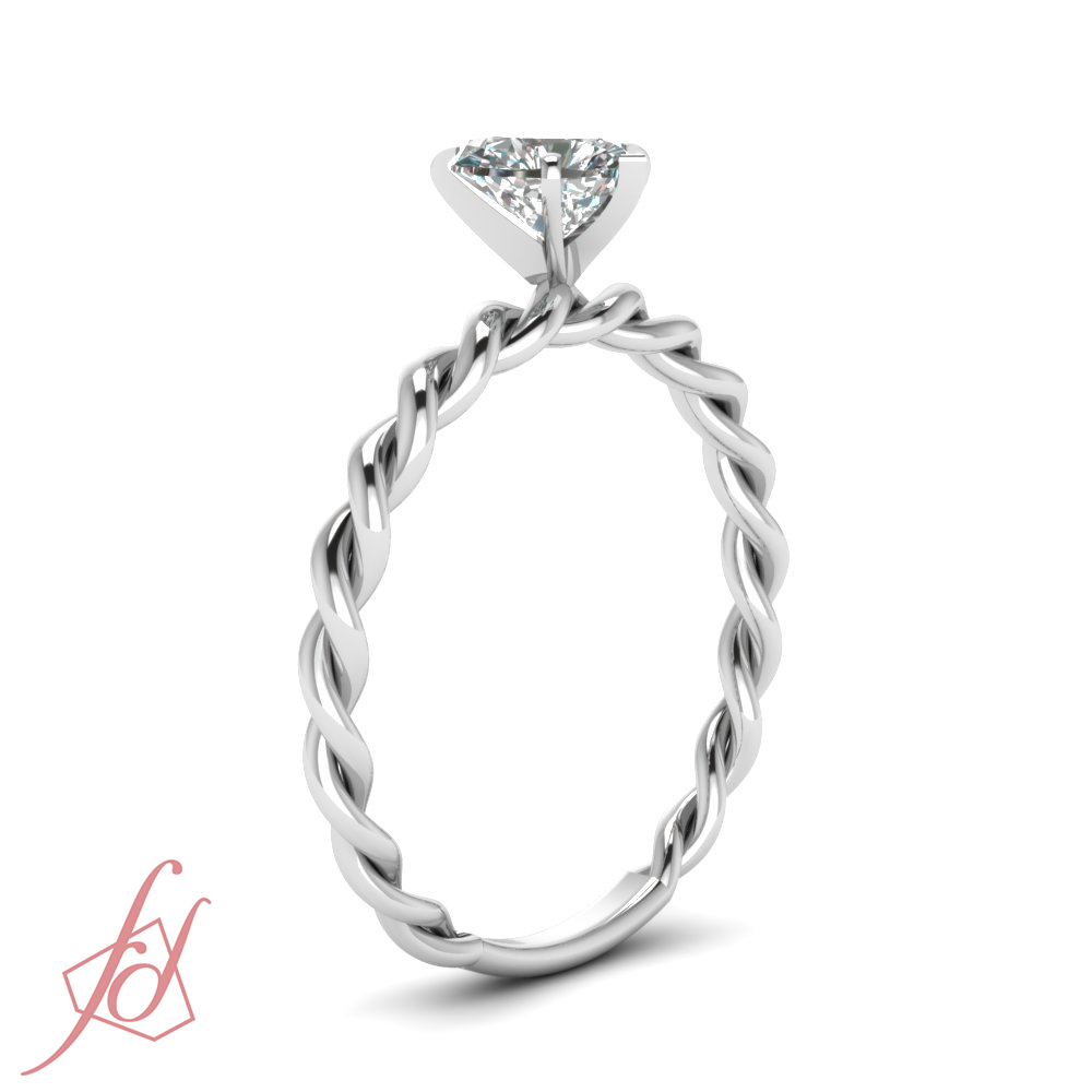 twisted ring band halo twist diamond products moissanite rings engagement mati