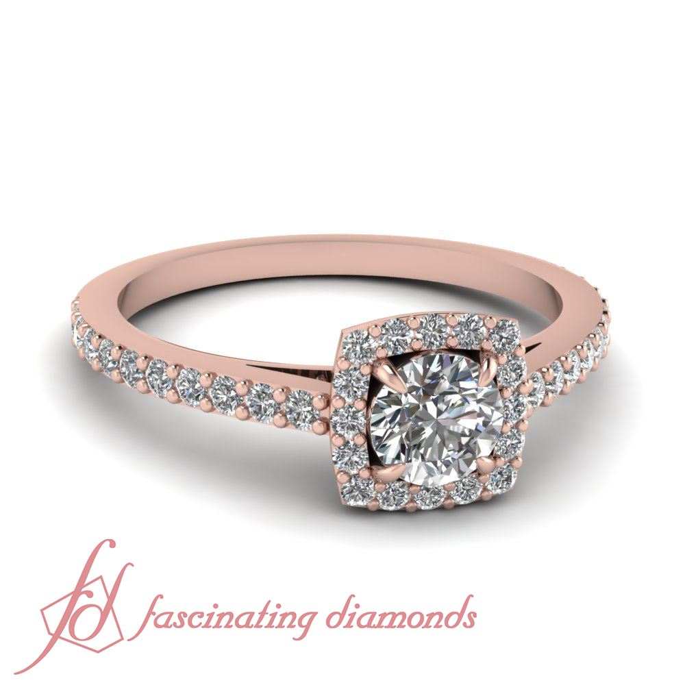 60 ct cut cathedral halo style engagement