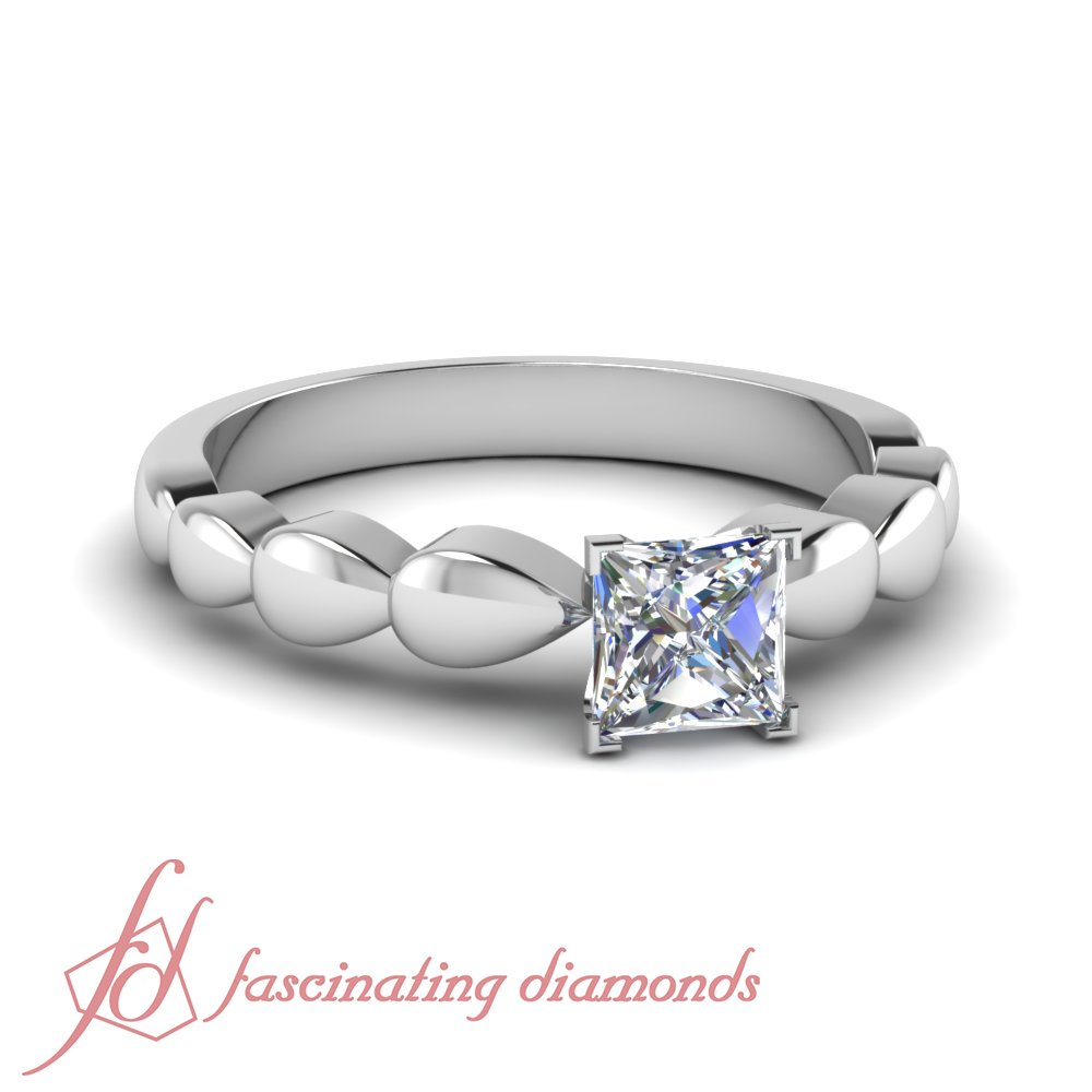 1 4 carat princess cut solitaire drop
