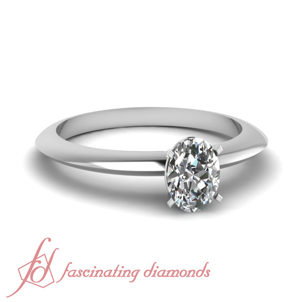 3 4 Carat Knife Edge Solitaire Platinum Engagement Ring Oval Shaped Diamond G