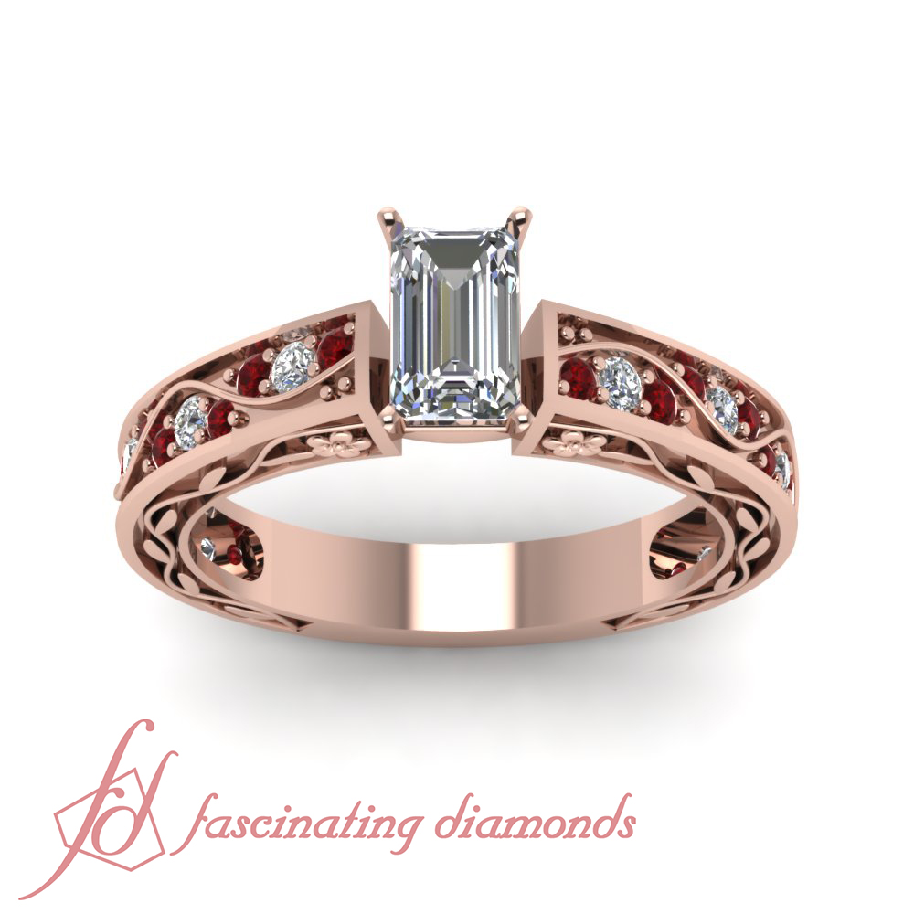 1 15 ct gold antique engagement ring with emerald cut