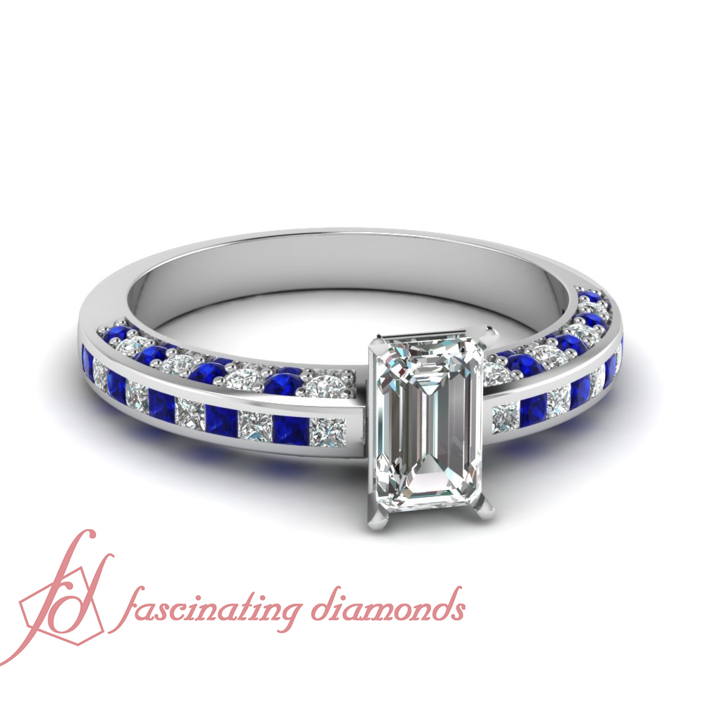 125 carat emerald cut certified diamond engagement ring
