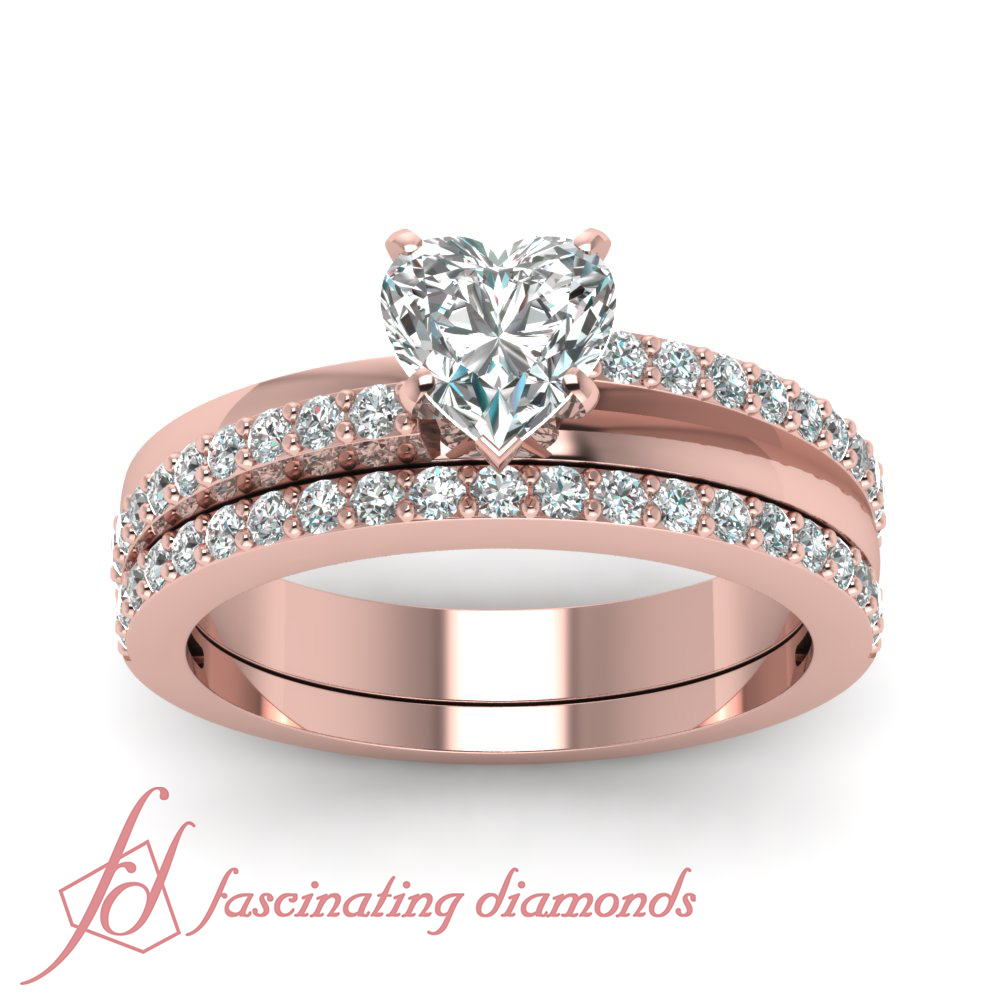 ct heart shaped diamond tranquil crossover wedding