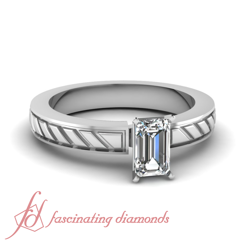 3 4 carat emerald cut solitaire vintage inspired