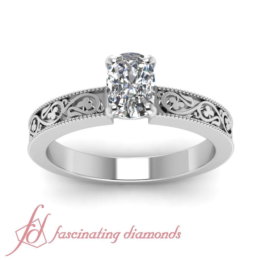 Fresh 1 Carat Cushion Cut Engagement Rings